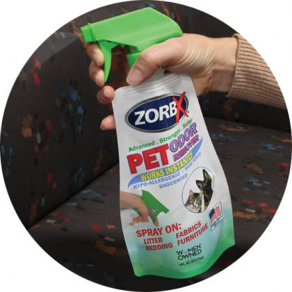 ZORBX stand-up pouch with sprayer fitment